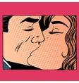 Kiss man and woman love vector image
