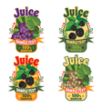 labels of juice from grapes and blackberry vector image