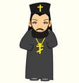 priest in cassock vector image