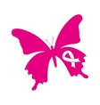 ribbon pink breast cancer icon vector image