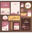 stationery template design for cafe shop vector image
