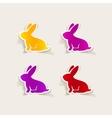 realistic design element easter rabbit vector image