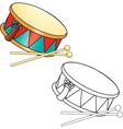 Toy drum vector image vector image
