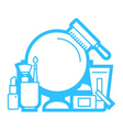 beauty and cosmetic line icon vector image