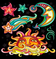set of celestial symbols vector image