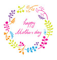 happy mothers day card bright spring concept vector image vector image