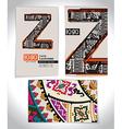 Ancient Business card design LETTER Z vector image
