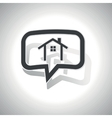 Curved cottage message icon vector image