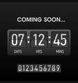 coming soon countdown website timer template vector image