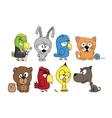 Funny cartoon characters vector image