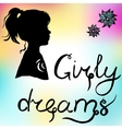 girl silhouette and vector image