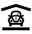 Home garage icon vector image