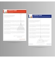 Letter template for company vector image