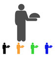 standing waiter icon vector image