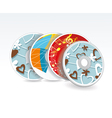 Set of cd cover design template design vector image