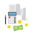 Concept of tax payment and invoice vector image