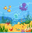 underwater background with ocean vector image