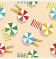 summer beach vacation top view women pattern vector image