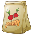 A pack of onion seeds vector image vector image