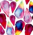 Watercolor drops art seamless pattern vector image