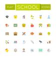 Flat School Icons vector image
