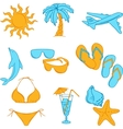Travel set with many colourful tourism and vector image