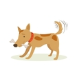 Brown Pet Dog Carrying Bone In Teeth Animal vector image