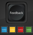 Feedback sign icon Set of colored buttons vector image