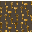 Gold keys seamless pattern on brown Retro vector image