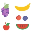 Healthy vegetarian products vector image