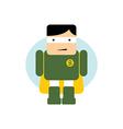 little superhero flat cartoon vector image