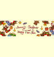 merry christmas and happy new year lettering text vector image