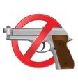 No guns allowed sign vector image