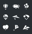 set of aeronautics icons vector image