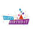 Happy Birthday greetings card design vector image