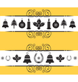 christmas decor elements for designNew year back vector image vector image