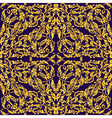 Seamless with vintage gold baroque ornament Luxury vector image