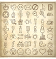 49 hand draw web icon design elements vector image vector image