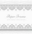 Paper lace background vector image vector image