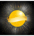 disco ball with banner on star burst background vector image vector image