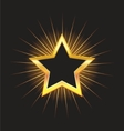 gold star frame with beams vector image
