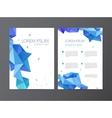 flyer blue brochure abstract design 2 vector image
