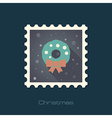 Christmas wreath stamp vector image