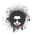funky face emblem vector image vector image