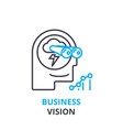 business vision concept outline icon linear vector image