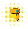 Hairdryer icon comics style vector image