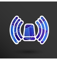 icon beacon siren isolated caution police white vector image