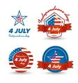 Independence day icons set vector image