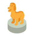 lion statue icon isometric style vector image