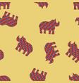 rhinoceros seamless pattern background vector image